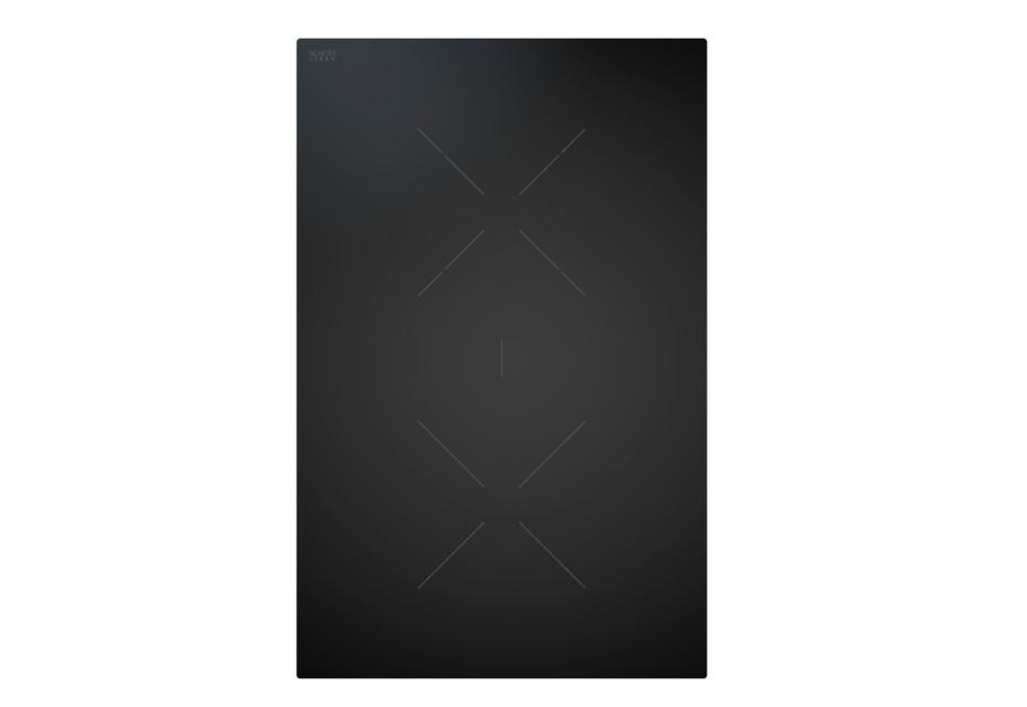 BORA Classic 2.0 HiLight-Glaskeramik-Kochfeld mit 2 Kochzonen 1-Kreis/2-Kreis/Bräter