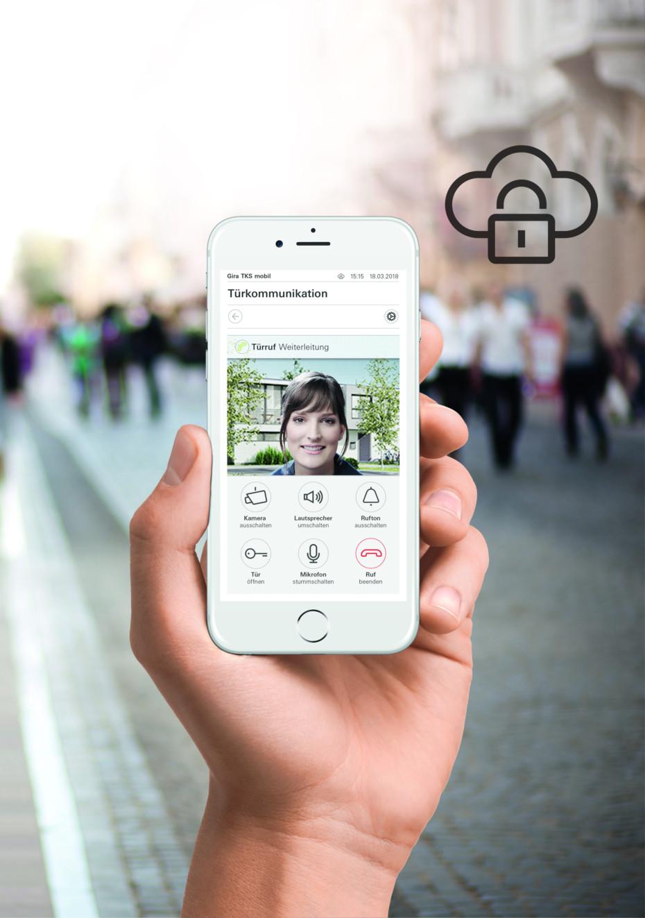 Gira mobile door communication