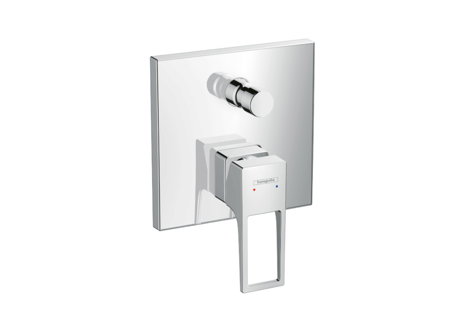 Metropol Single Lever Bath Mixer, for concealed installation, lever
