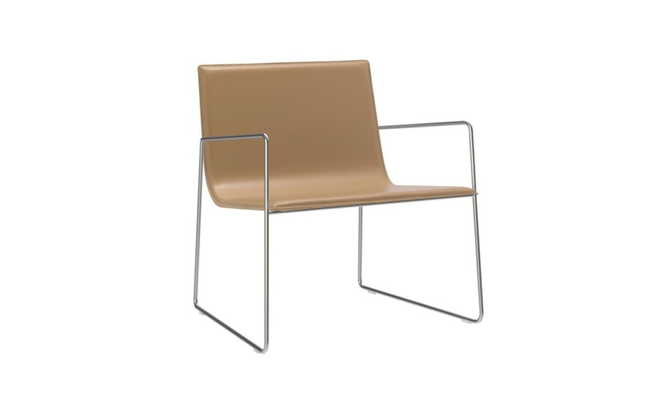 Lineal armchair with armrests