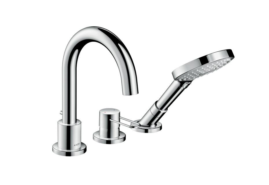 Axor Uno 3-hole rim mounted bath mixer loop handle