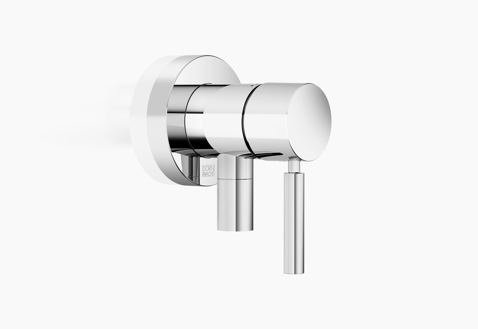 Concealed single-lever mixer with cover plate with integrated shower connection