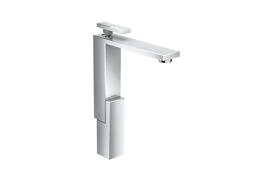 Axor Edge Single lever basin mixer 280 with push-open waste set