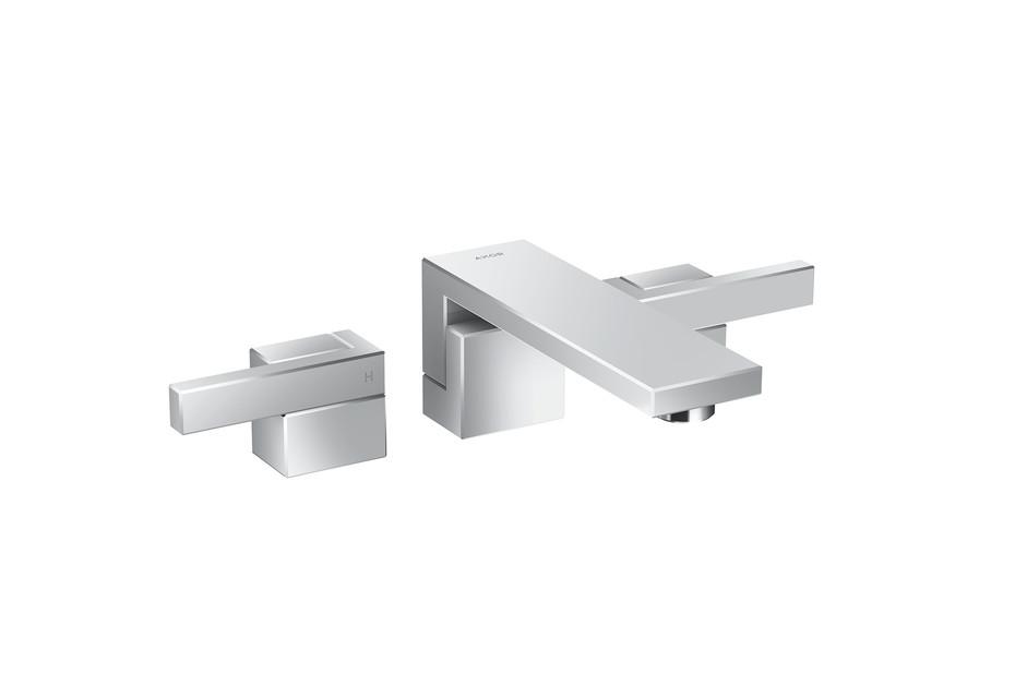 Axor Edge 3-Loch Waschtischarmatur Unterputz für Wandmontage