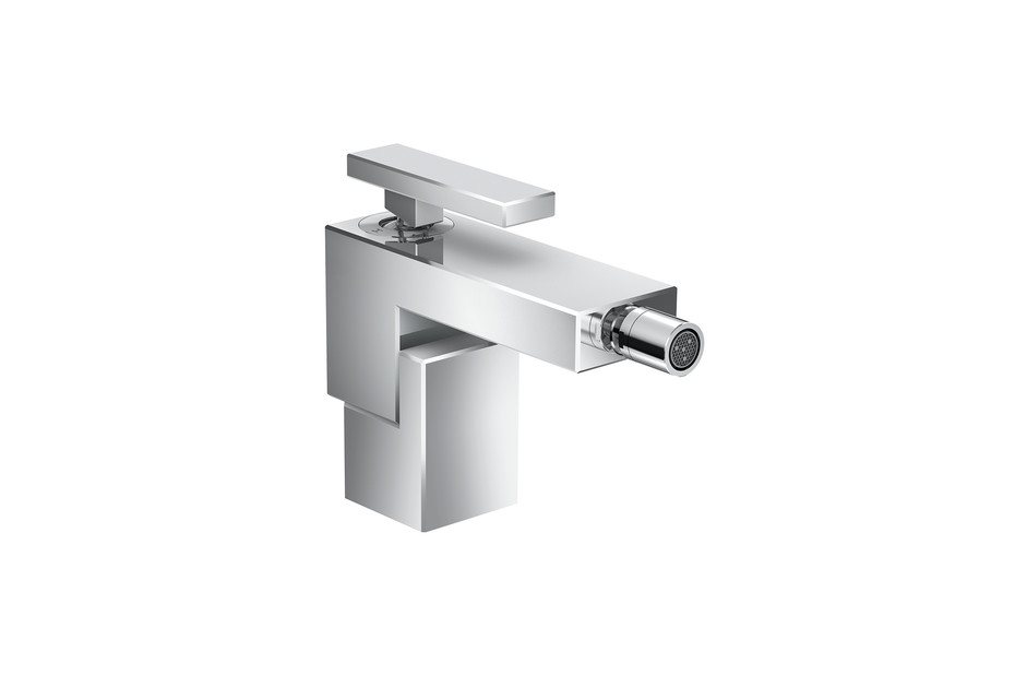 Axor Edge Single lever bidet mixer with push-open waste set