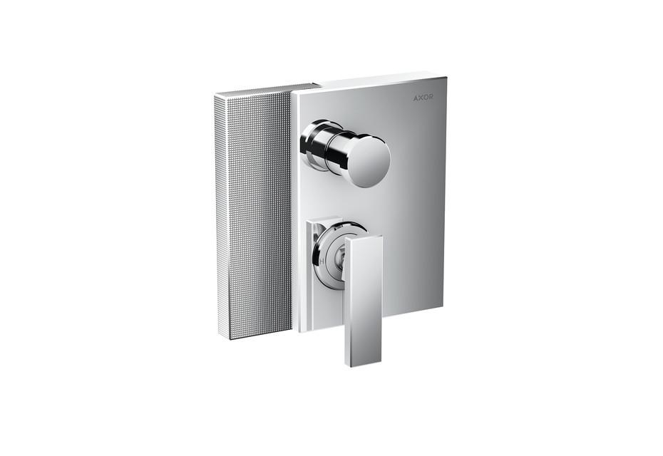 Axor Edge Single lever bath mixer for concealed installation - diamond cut