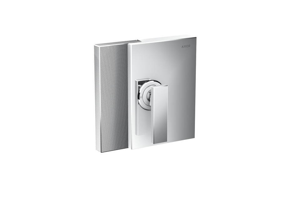 AXOR Edge Single lever shower mixer for concealed installation - diamond cut