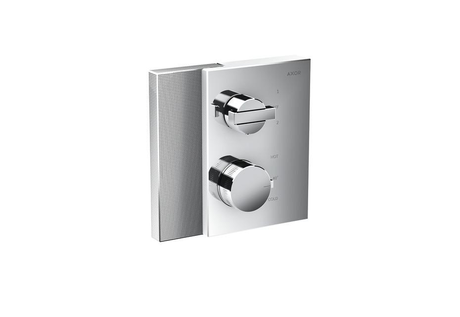 Axor Edge Thermostat mit Ab- und Umstellventil Unterputz - Diamantschliff