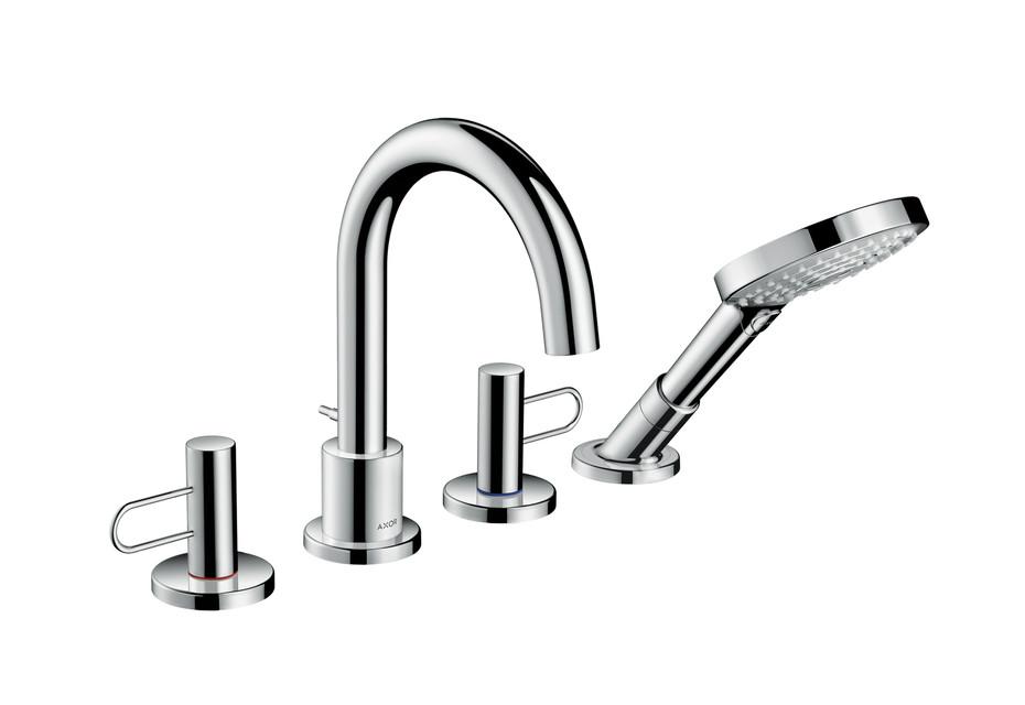 Axor Uno 4-hole rim mounted bath mixer loop handle