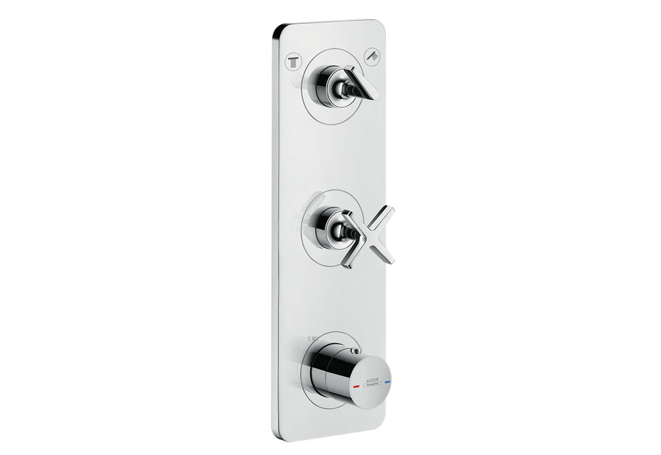Axor Citterio E Thermostatic module 380/120 for 2 outlets for concealed installation