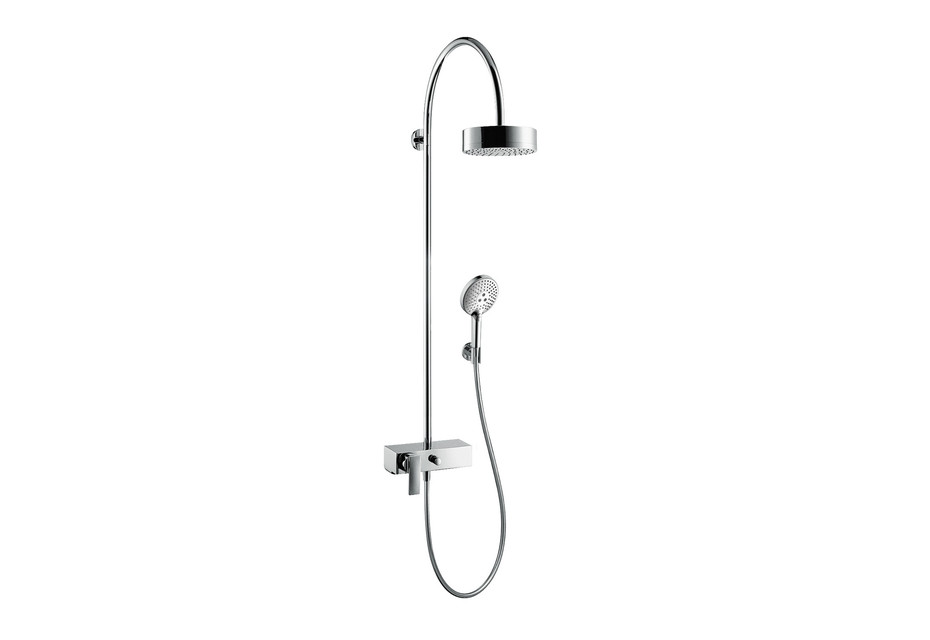 Axor Citterio showerpipe with single lever mixer and overhead shower 180 1jet
