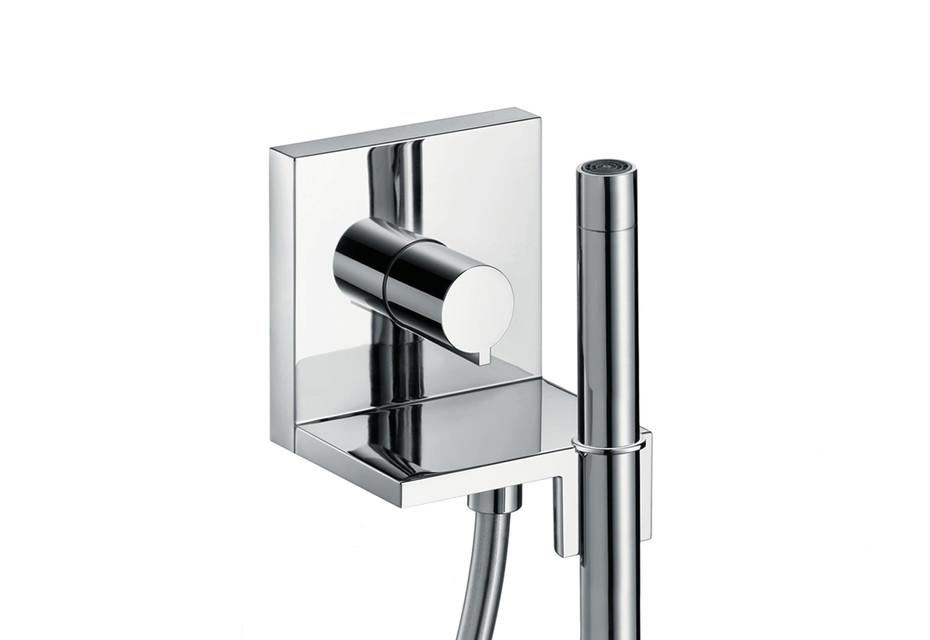 AXOR ShowerCollection Handbrausemodul 120/120 Square, mit Stabhandbrause 2jet, Unterputz