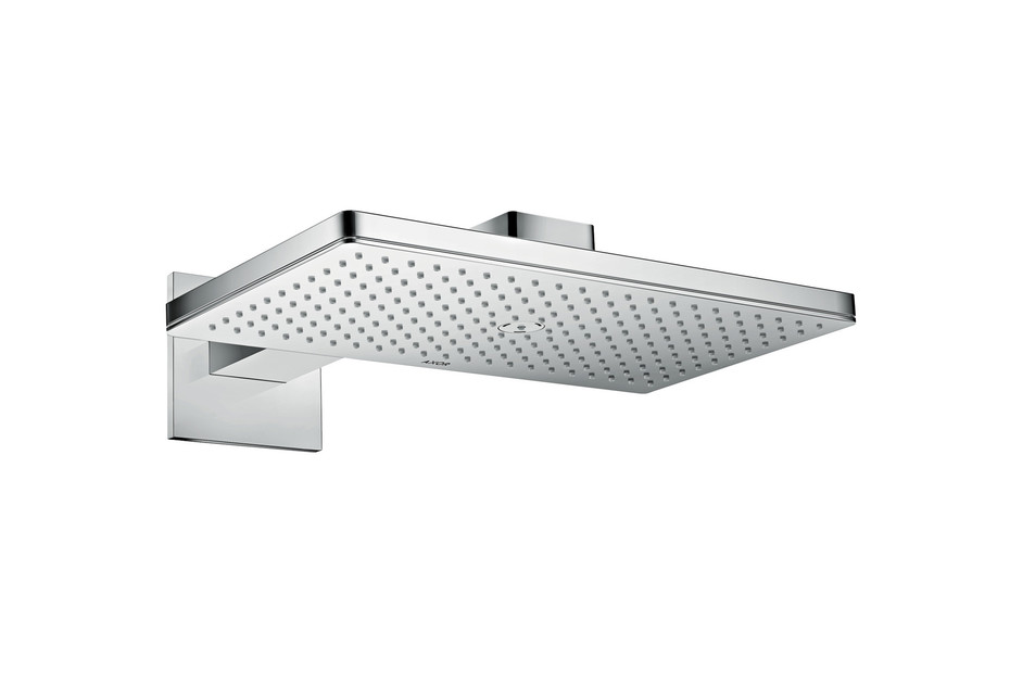 Axor Overhead shower 460/300 1jet with shower arm and square escutcheons