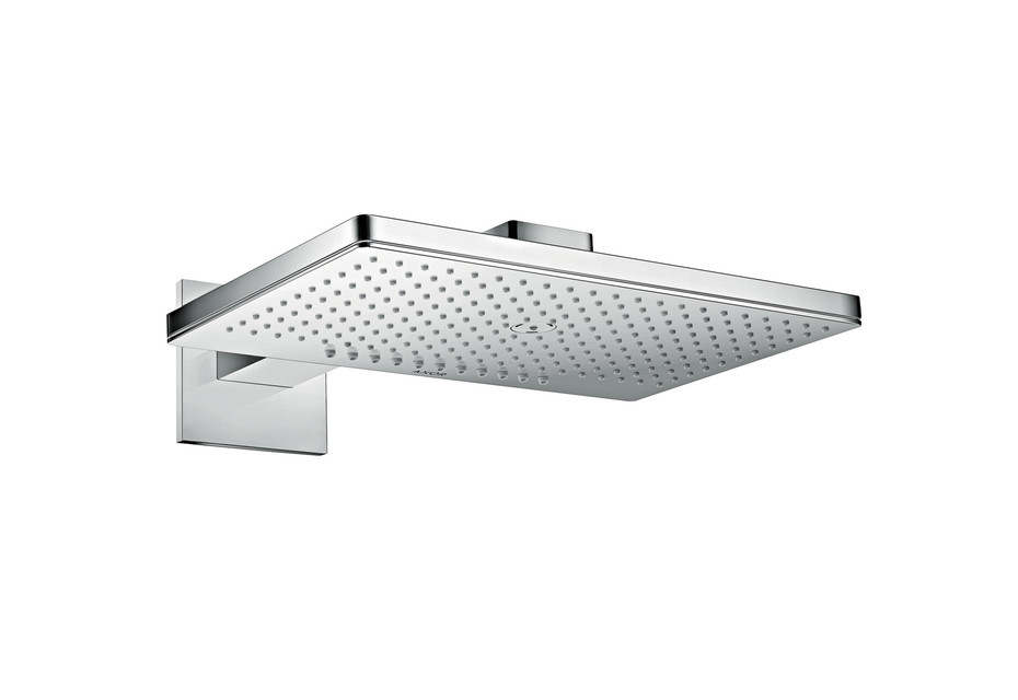 Axor overhead shower 460 / 300 2jet with shower arm and square escutcheons