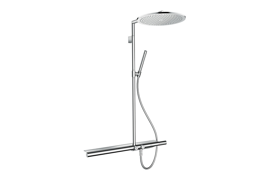 Axor Showerpipe 800 with thermostatic mixer and overhead shower 350 1jet