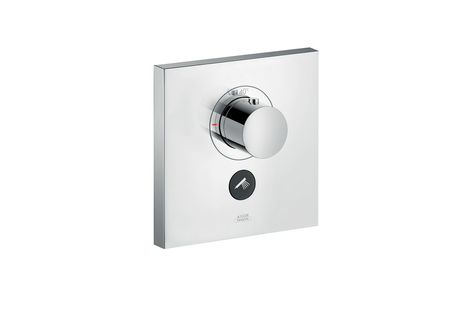 Axor thermostatic mixer highflow Square for 1 outlet and additional outlet for concealed installation