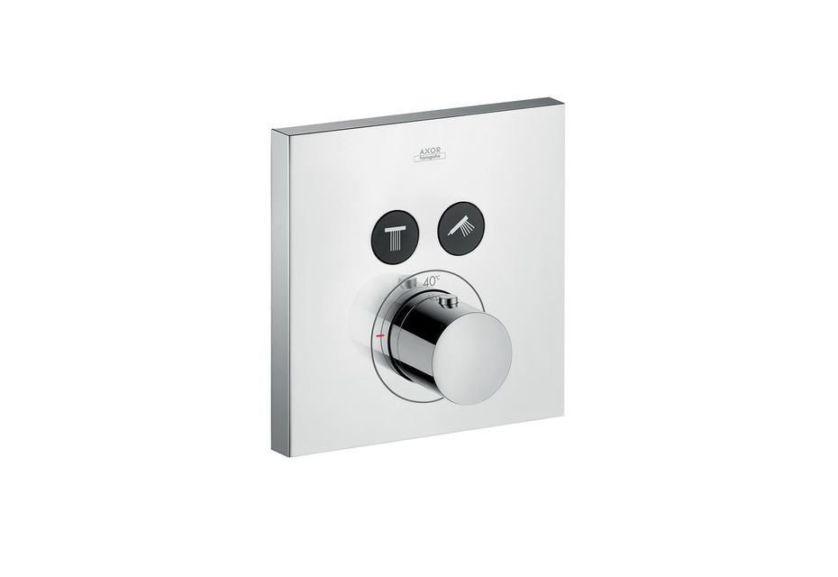 Axor thermostatic mixer Square for 2 outlets for concealed installation