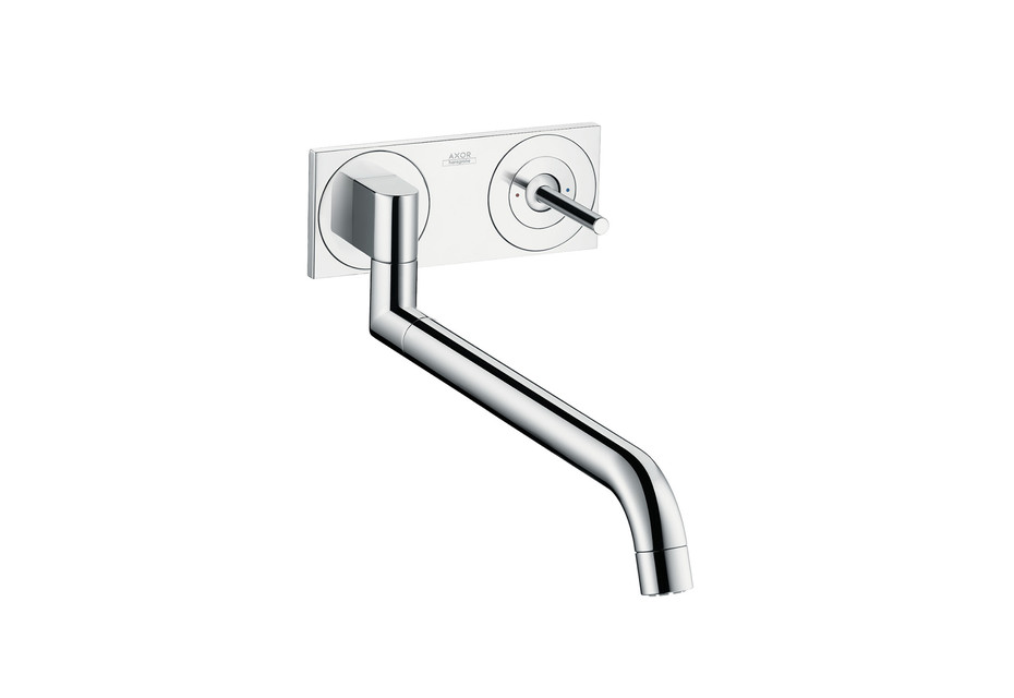 Axor Uno² Single lever kitchen mixer for concealed installation wall-mounted