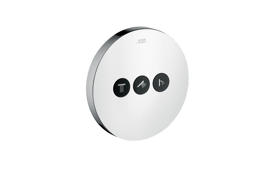 Axor valve Round for 3 outlets for concealed installation