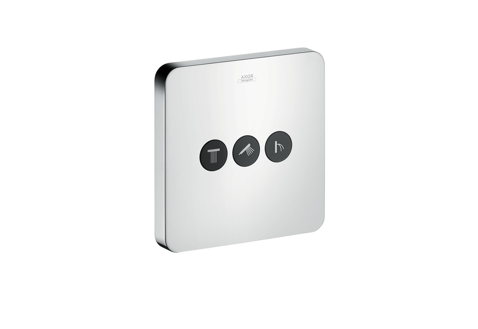 Axor valve Softcube for 3 outlets for concealed installation