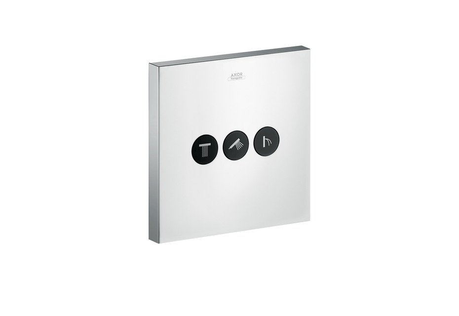 Axor valve Square for 3 outlets for concealed installation