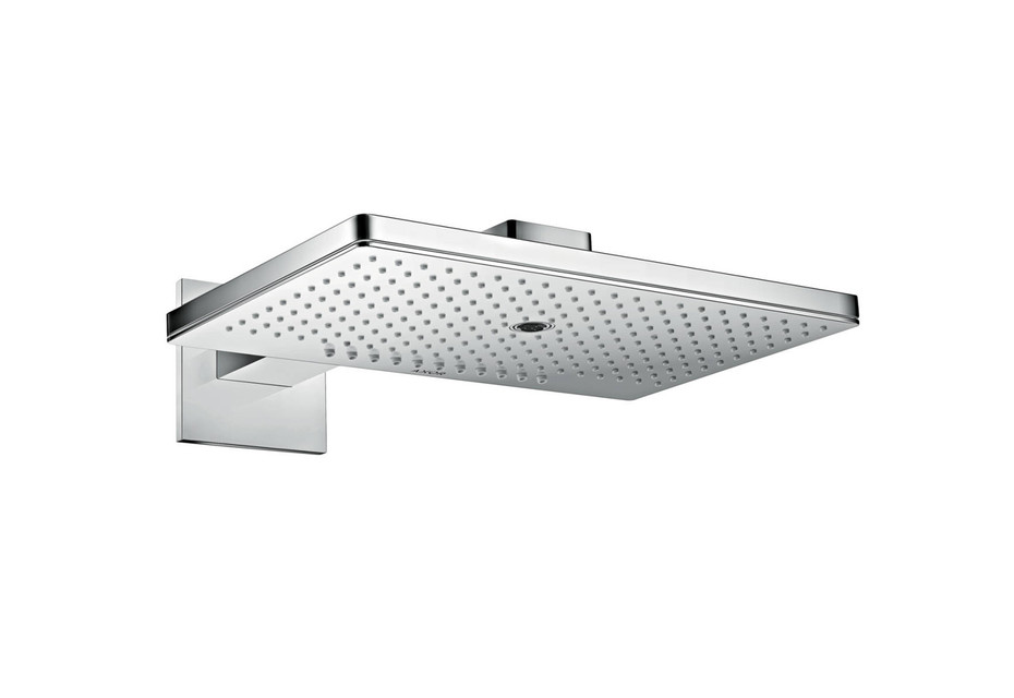 Axor overhead shower 460 / 300 3jet with shower arm and square escutcheons