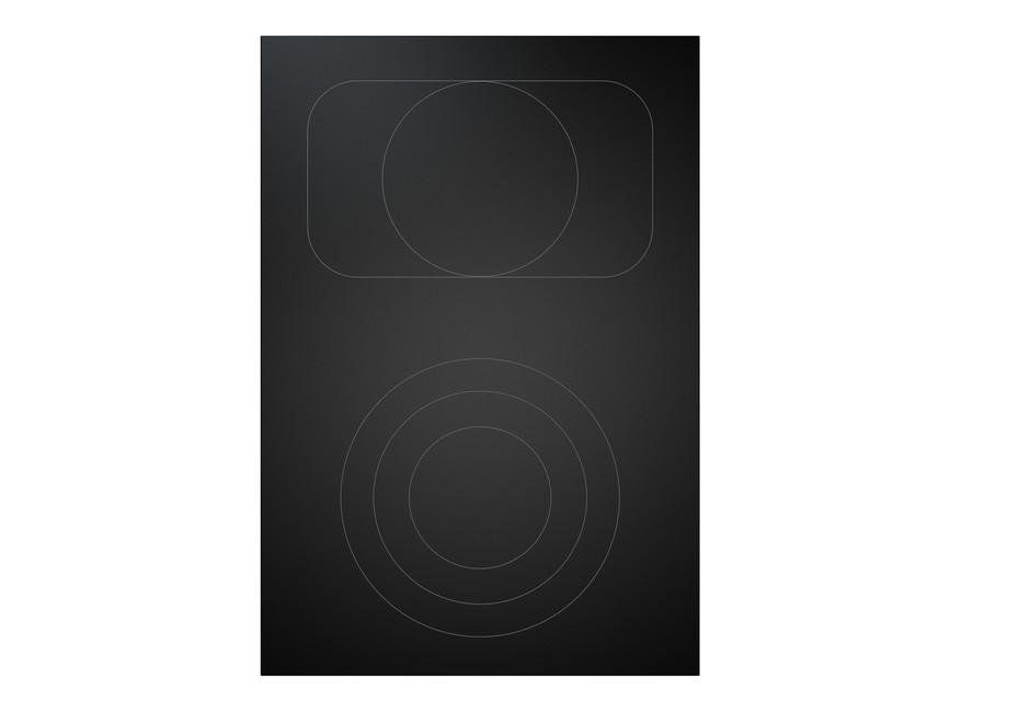 BORA Professional 2.0 HiLight-Glaskeramik-Kochfeld mit 2 Kochzonen 3-Kreis/Bräter