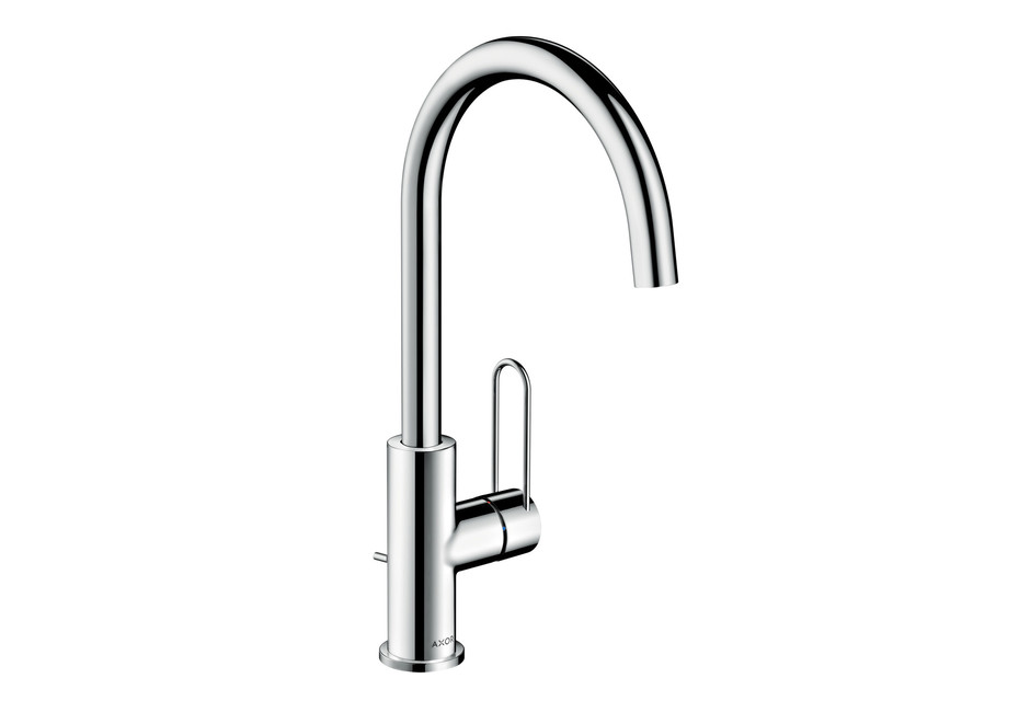 Axor Uno Single lever basin mixer 240, loop handle, with pop-up waste set