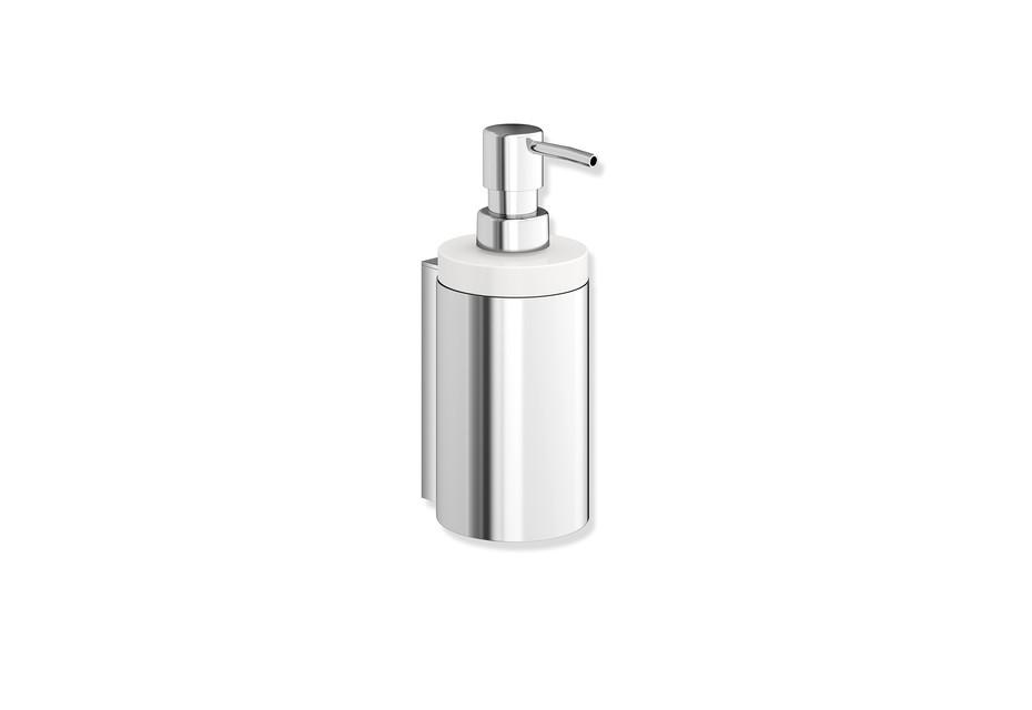 Soap dispenser with holder chrome