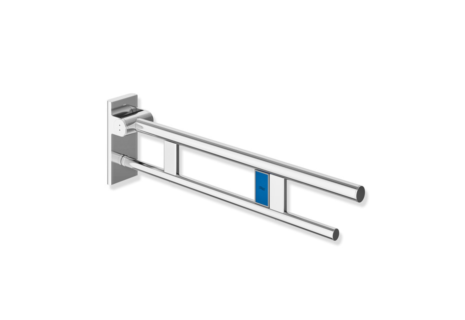Hinged support rail Duo 750 mm projection chrome