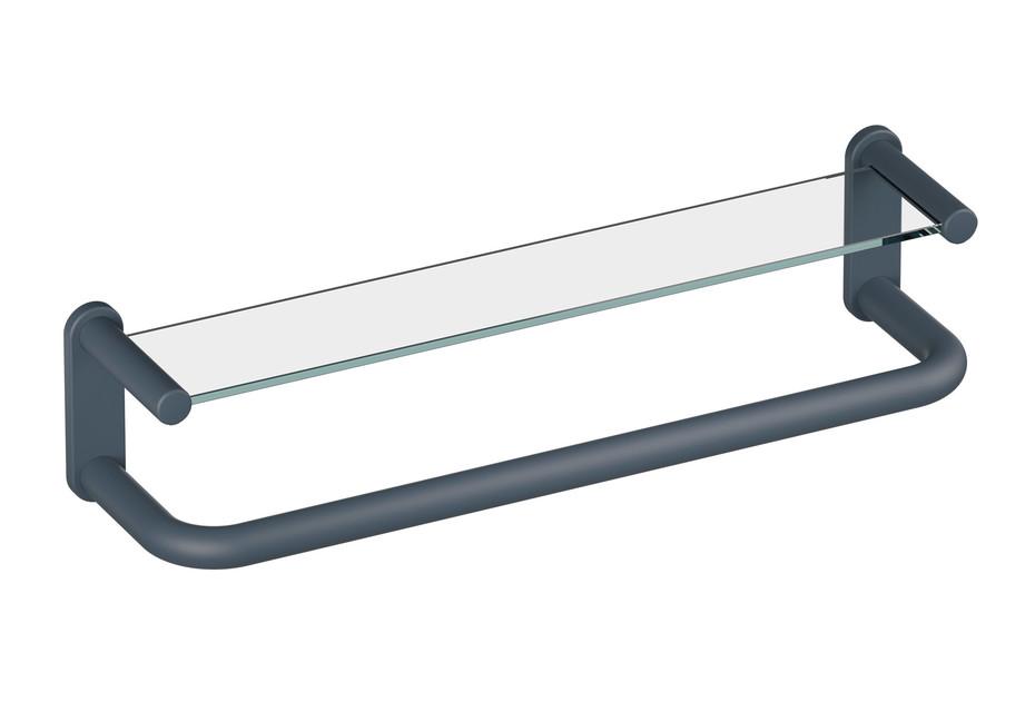 Shelf with grab bar