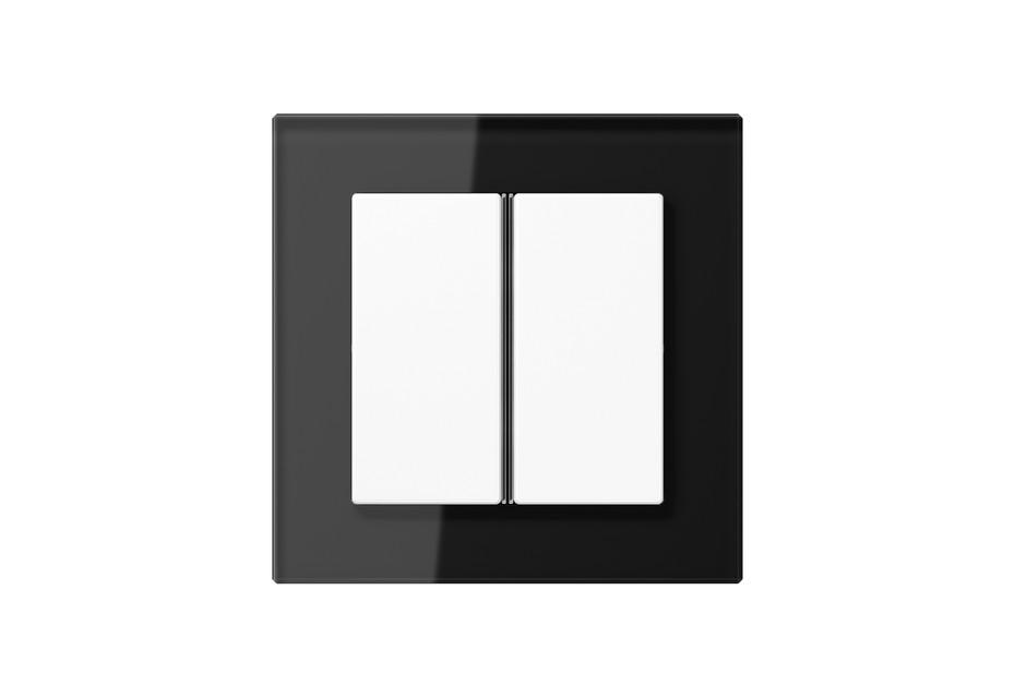 A Creation Glas F40 Tastsensor 2fach in schwarz