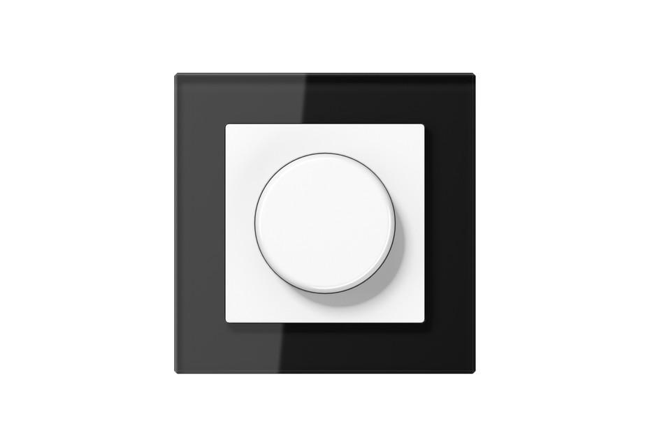 A Creation Glas Drehdimmer in schwarz
