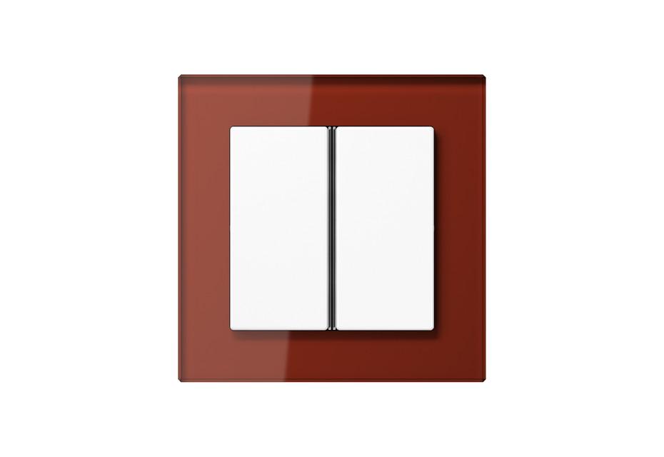 A Creation Glas F40 Tastsensor 2fach in rot