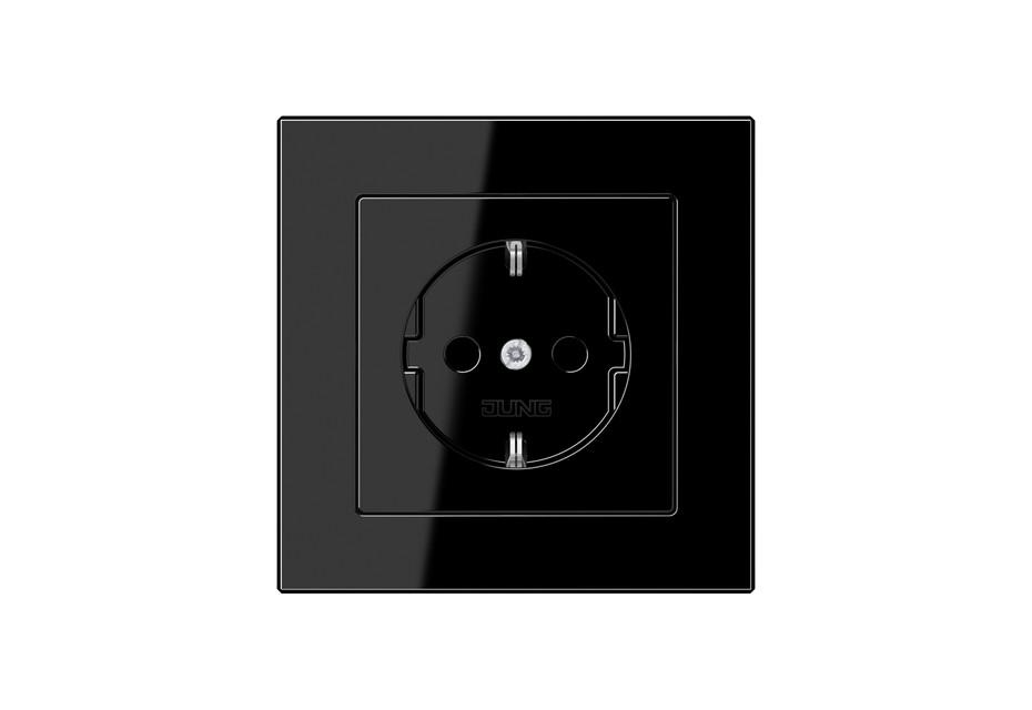A Creation SCHUKO-Steckdose in schwarz
