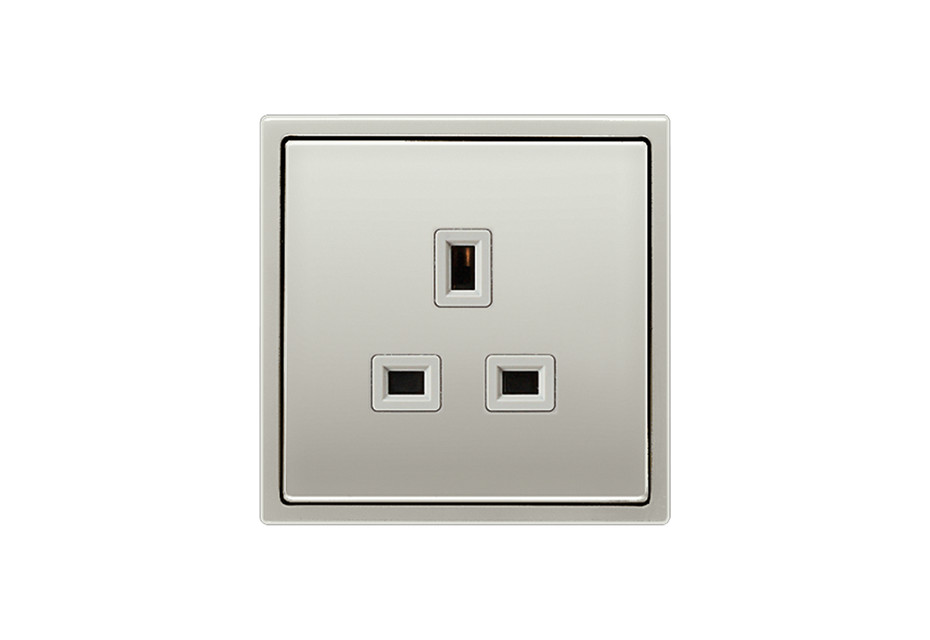 Socket British Standard 13A in stainless steel