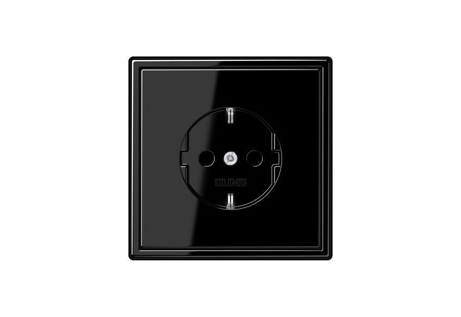 LS 990 SCHUKO-Steckdose in schwarz