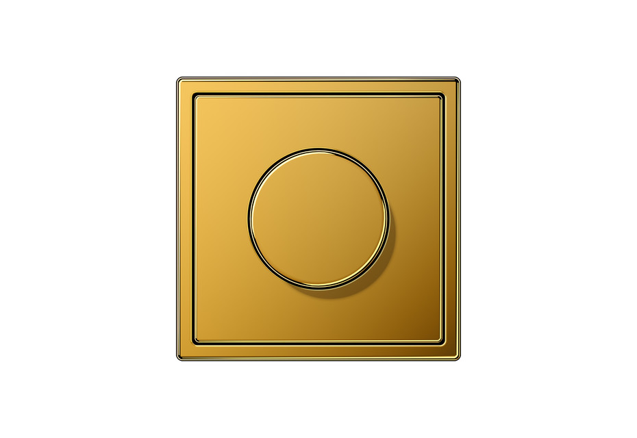LS 990 Rotary Dimmer in 24 carat gold