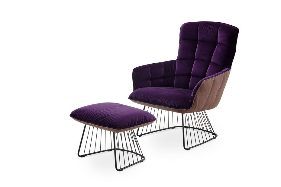 Marla Easy Chair mit Harfengestell