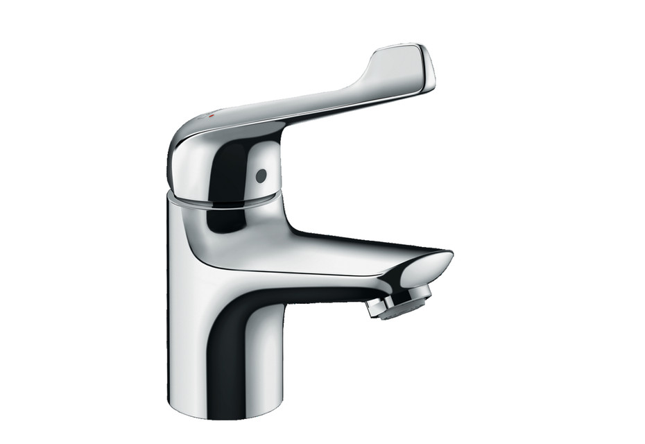 Novus single-lever basin mixer 70 with extra long handle and pop-up waste