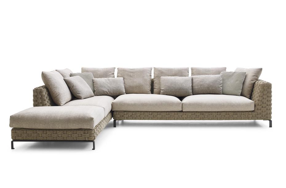 RAY OUTDOOR NATURAL corner sofa