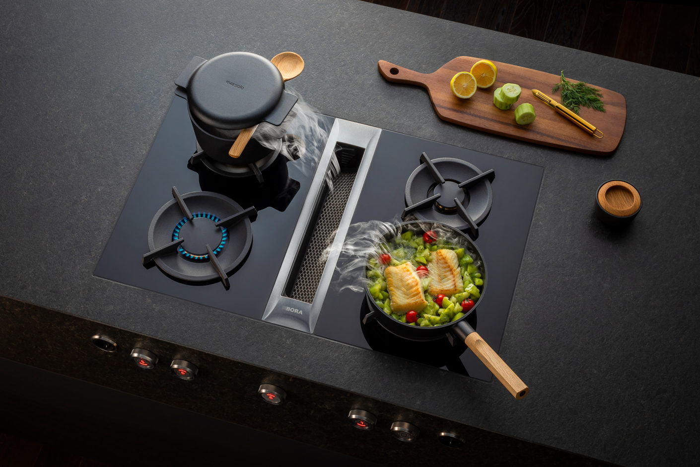Bora cooktop extractor from above