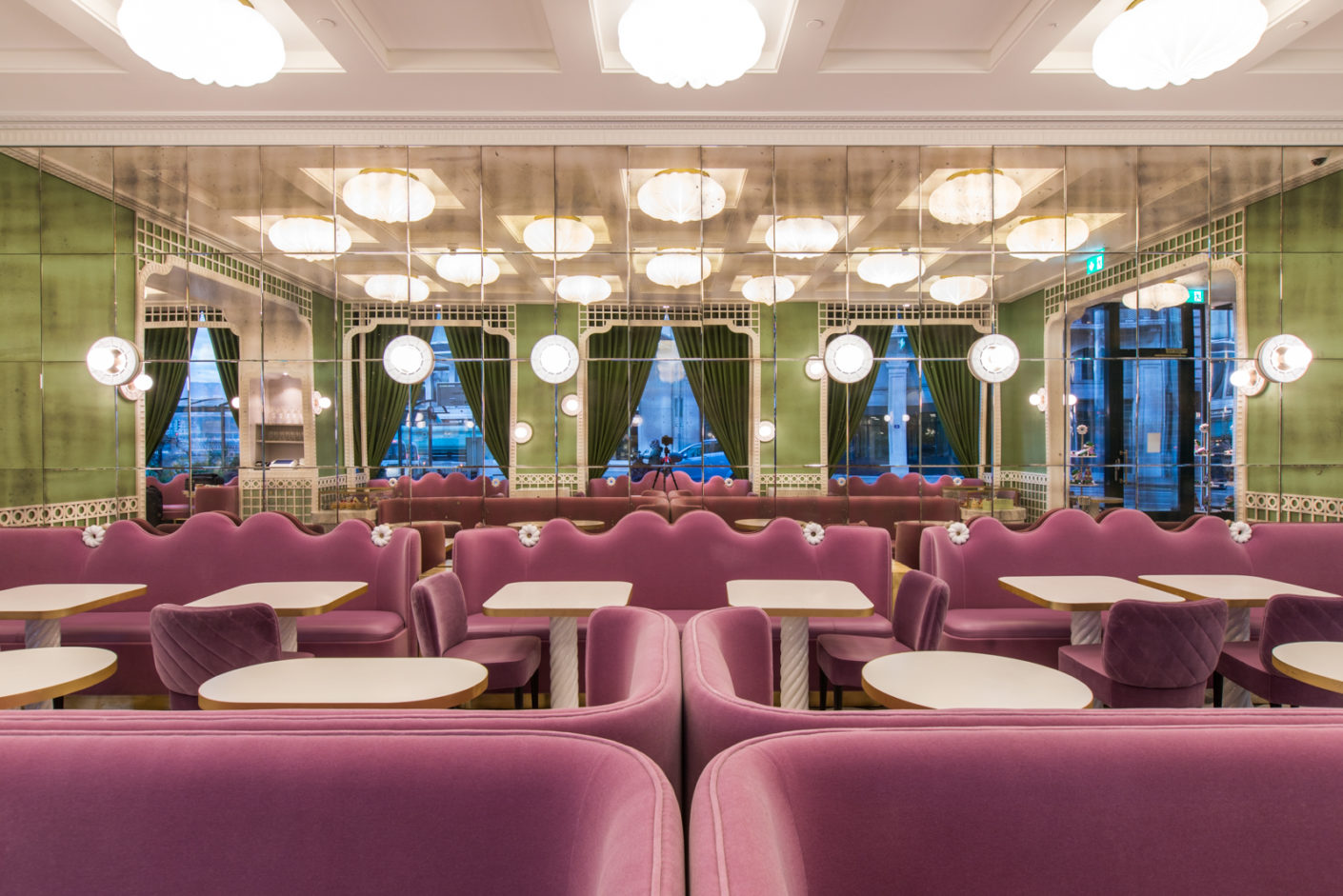 India Mahdavi Has Designed A Cafe For Ladur 233 E Stylepark