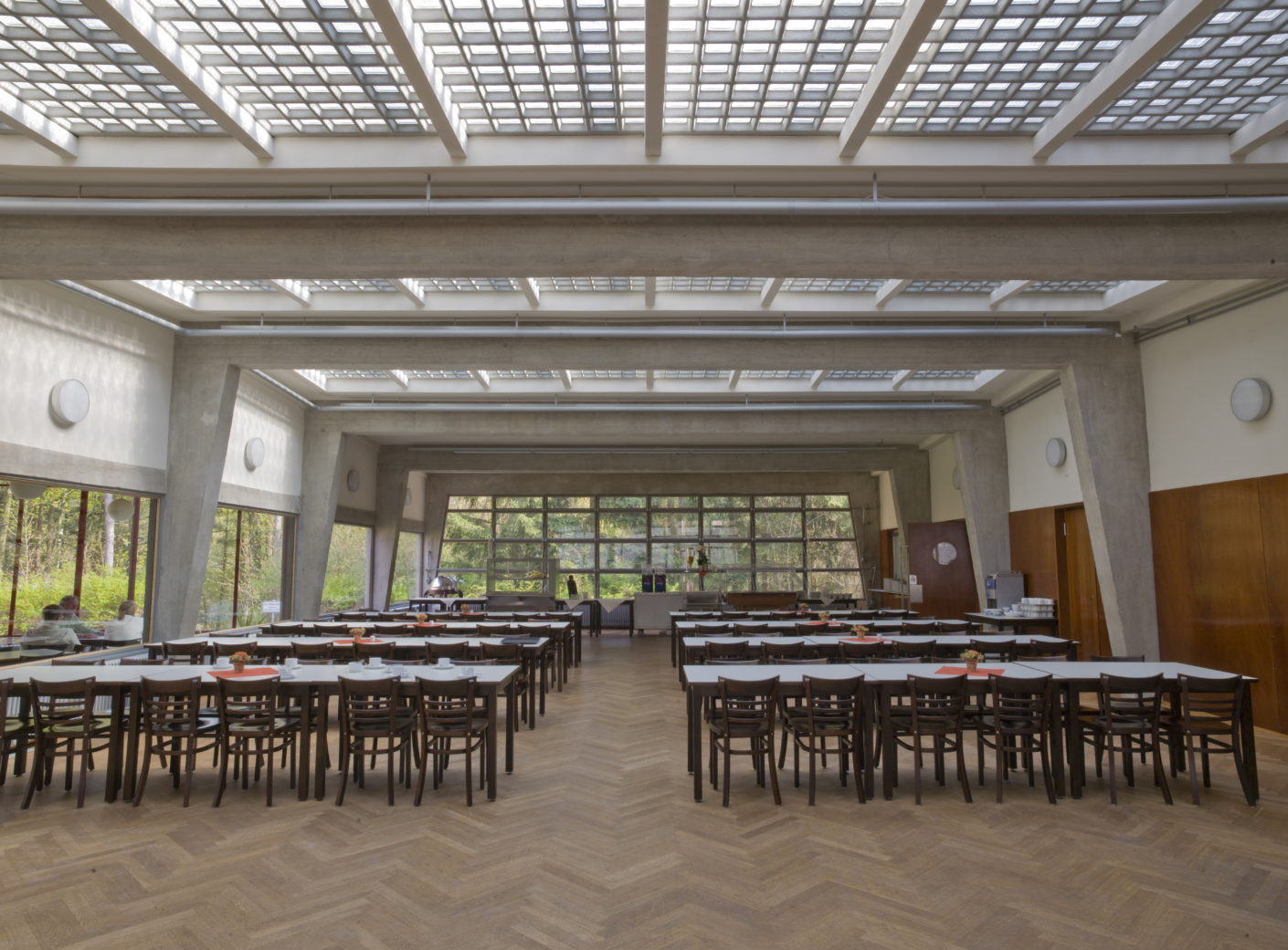 Bundesschule of the ADGB, Bernau, Hannes Meyer, dining hall, world cultural heritage