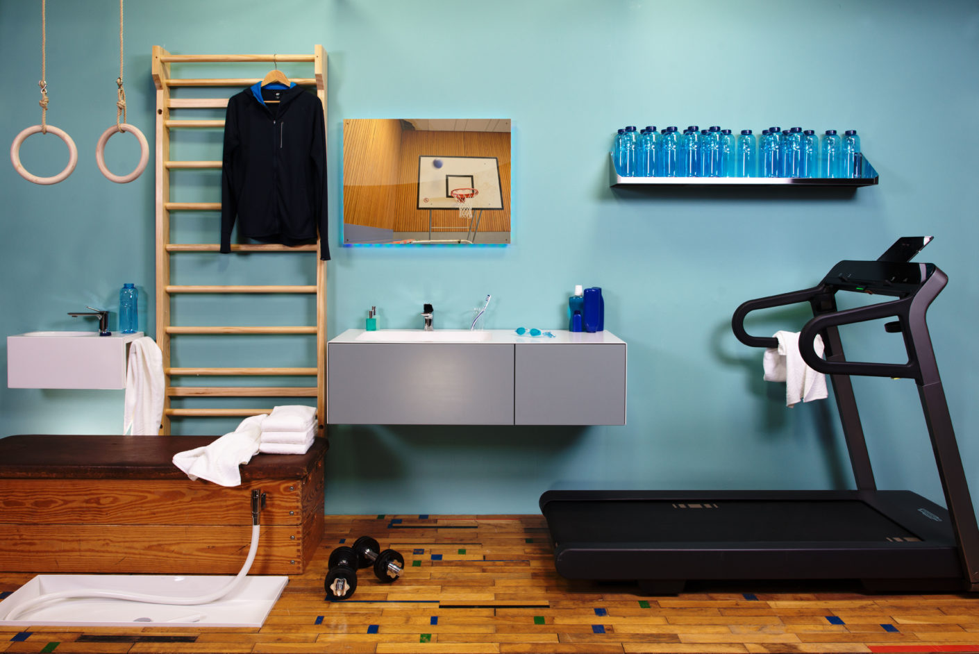 Fitness and spa: Both can easily be combined if the bathroom design is accordingly individual.