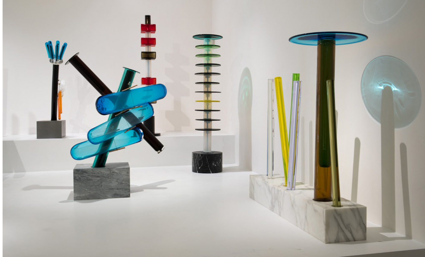 """Ettore Sottsass, works for the """"Millenium House"""" of prince Saud Al Thani"""