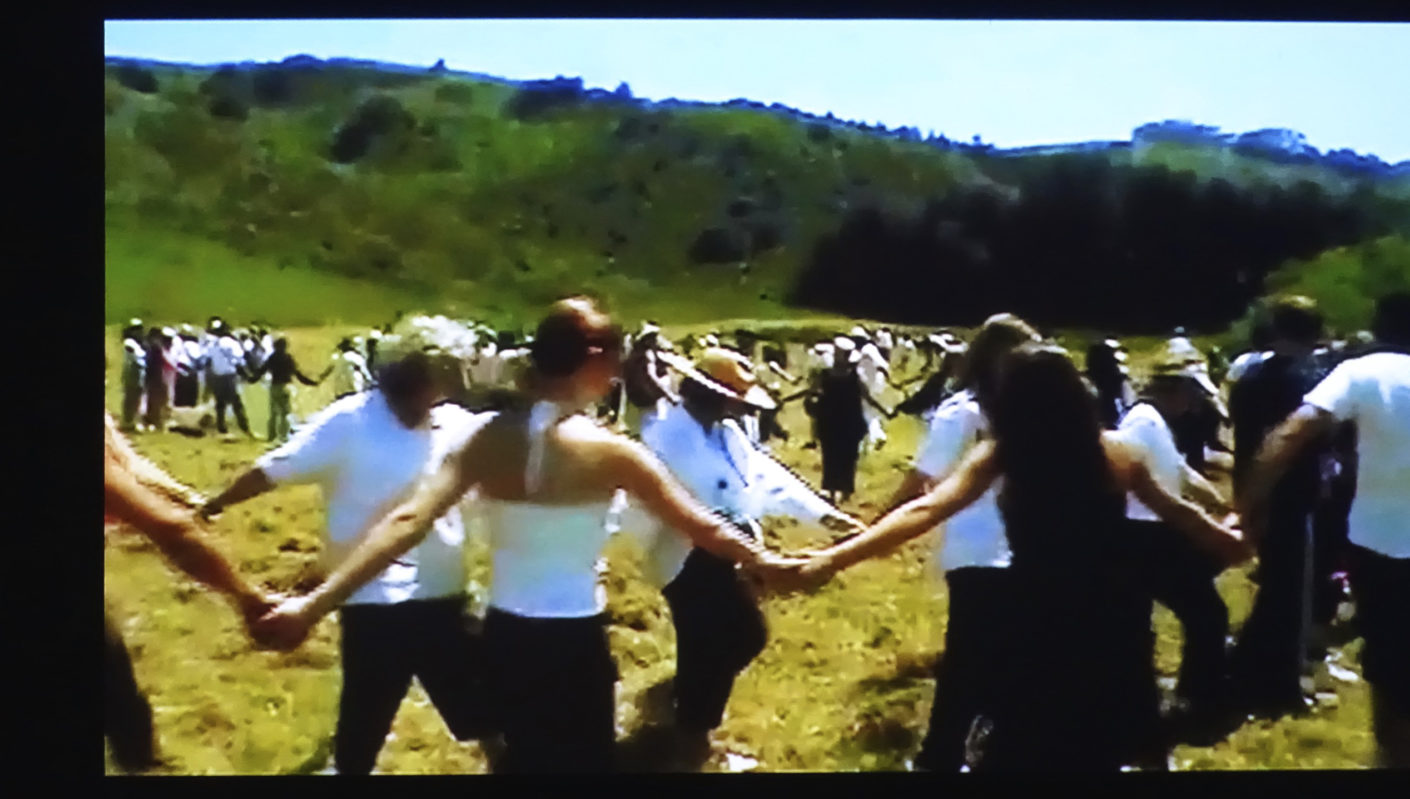 "Dancing as a community experience: Still from Anna Halprin's ""Planetary Dance""."
