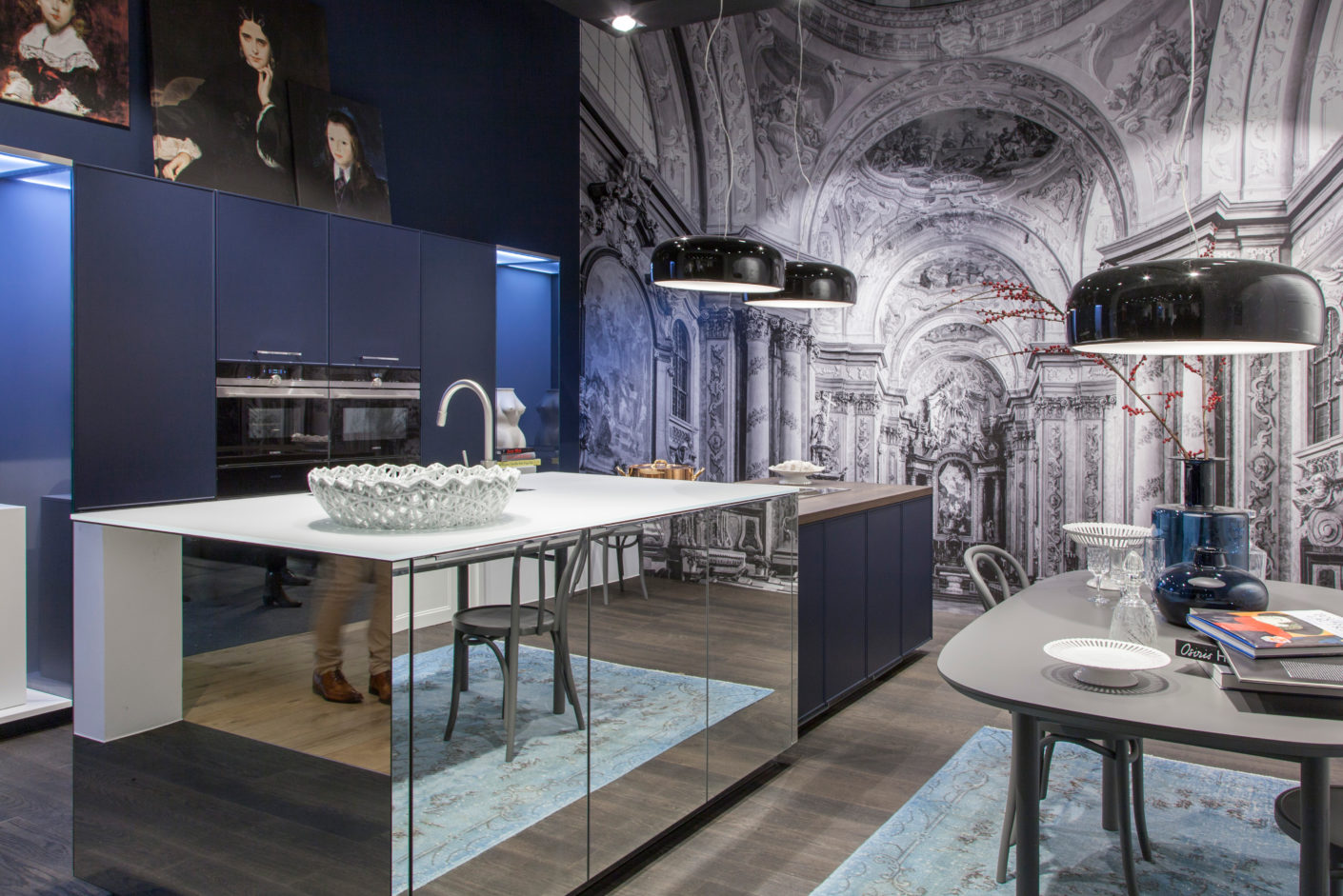 "Reflections in the kitchen: ""Neo Salon"" by Meiré und Meiré for Nolte Küchen."