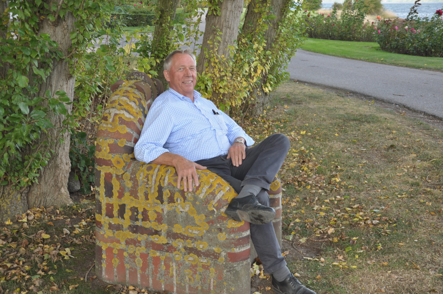 A brick-makers throne is made of sturdy masonry and Christian Petersen knows how to take to it.