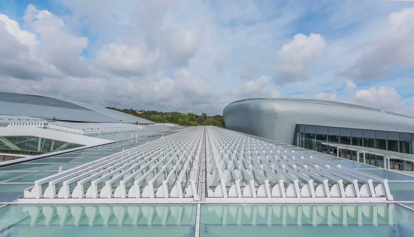 """Colt International has fitted out the 56,000m² shopping center """"Docks"""" in the north of Brussels with a sophisticated fire ventilation system."""